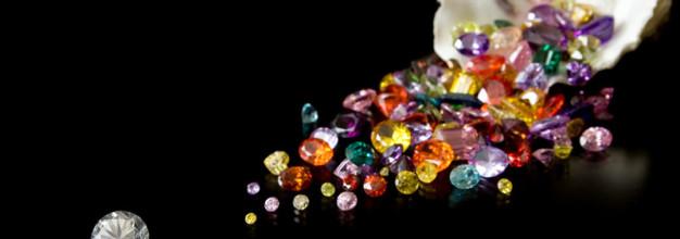 As gemas usadas na fabricação de joias